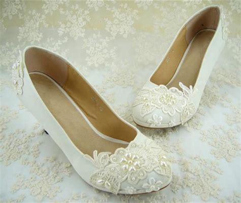 wedding shoes flat lace bridal shoes pearl wedding shoes