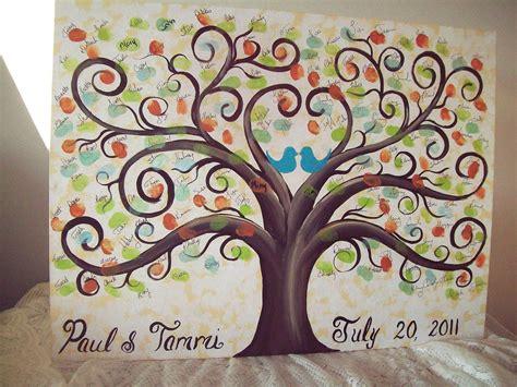 new year fingerprint tree wedding guestbook thumbprint tree canvas 18 x 24 165