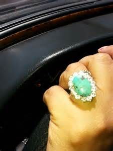 My Diamond And Turquoise Engagement Ring And Wedding Band