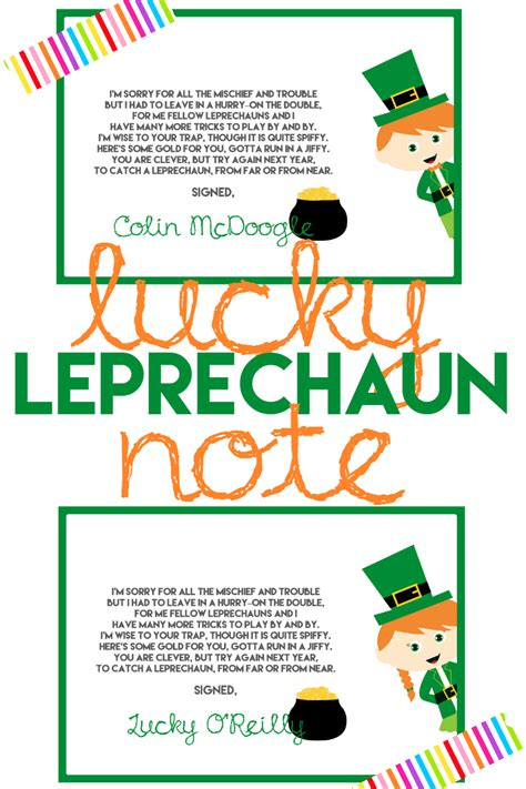 free printable letters from leprechaun how to catch a leprechaun a grande life