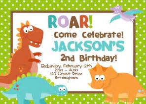 7 extraordinary dinosaur party invitation template free
