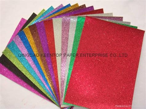 Craft Work On Paper - color glitter paper for craft work and wrapping kt 003