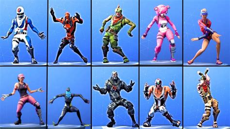 fortnite  costumes perform orange justice dance youtube