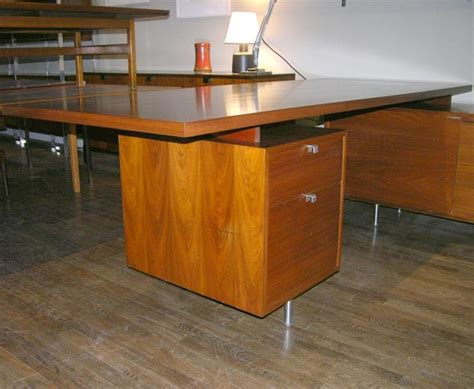 herman miller l shaped desk george nelson l shaped walnut executive desk herman miller