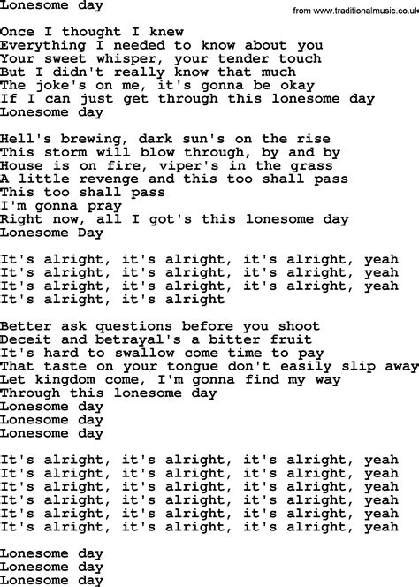 s day lyrics bruce springsteen springsteen lyrics 28 images springsteen river lyrics