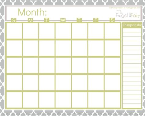 printable planner with dates free blank printable calendar printables pinterest