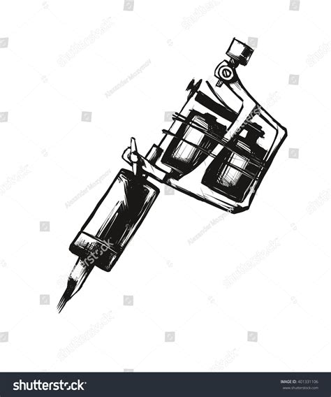 tattoo machine vector download tattoo machine vector illustration on white stock vector