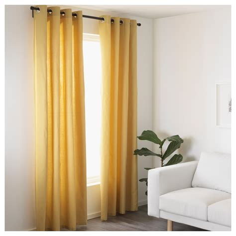 Ikea Textiles Curtains Decorating Mariam Curtains 1 Pair Yellow 145x250 Cm Ikea