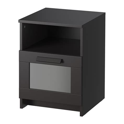 black bedside table ls brimnes bedside table black ikea