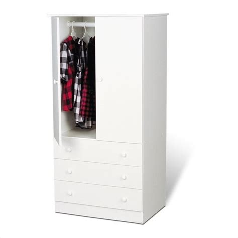 Clothes Wardrobe Armoire by Prepac White Juvenile Tv Wardrobe Armoire Ebay