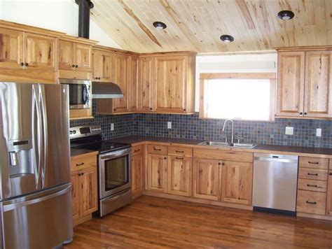rustic hickory cabinets kitchen rustic  cabin hickory