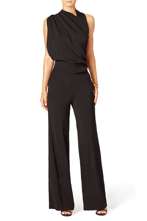 draped jumpsuit draped jumpsuit by osman for 200 rent the runway