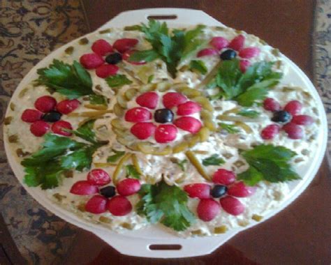 salad decorated with vegs salad decoration