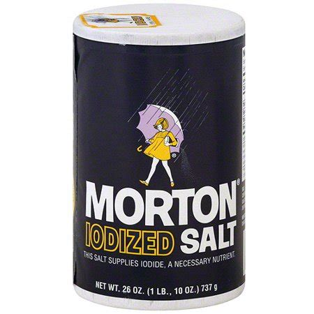is table salt iodized morton iodized salt 26 oz pack of 24 walmart com