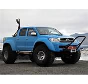 Blue Icelandic Toyota Hilux  Minitrucks Pinterest Trucks
