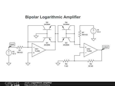 transistor logarithmic lifier logarithmic lifier circuitlab