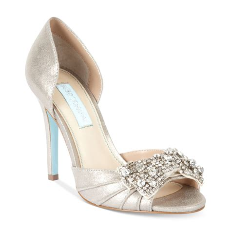 betsey johnson wedding shoes betsey johnson blue by gown evening pumps in white silver
