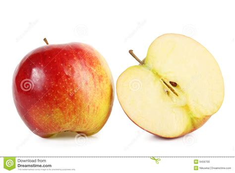App L by Fresh Apple With Slice Stock Photo Image 9456700