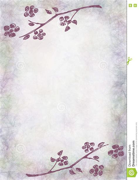 Hand Drawn Textured Floral Background Vintage Card With Flowers And Leaves Template For Letter Letter Background Template