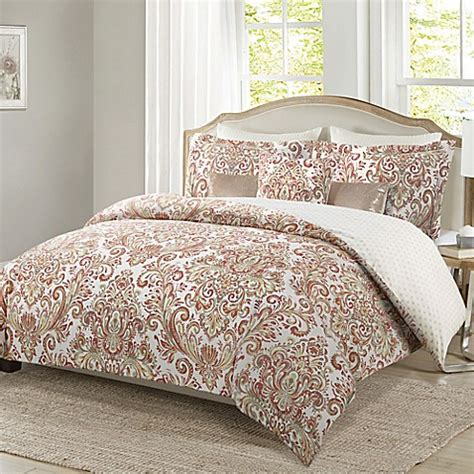 bed bath and beyond clearance comforter sets mika reversible comforter set in coral bed bath beyond