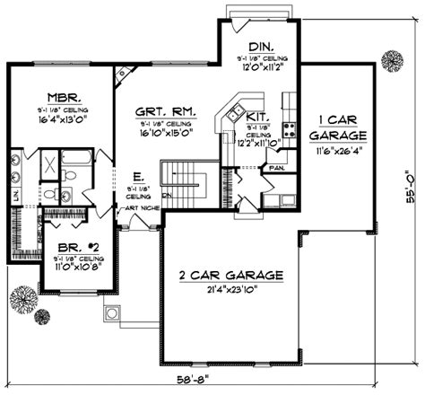 section 1059 plans craftsman house plan 2 bedrooms 2 bath 1416 sq ft plan