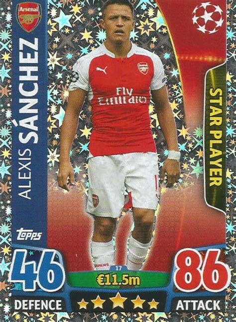 alexis sanchez all cards trading cards alexis sanchez champions league 2015 16