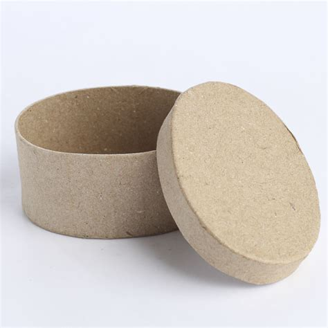Paper Mache Craft Supplies - miniature oval paper mache box paper mache basic craft
