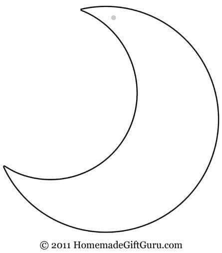 moon template crescent moon and outline www pixshark images
