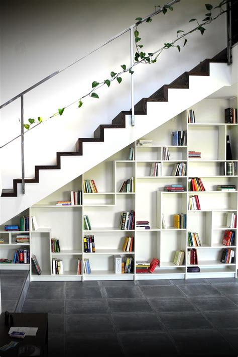 Space Saving Bookcases Quot Sgantina Quot Under Stairs Billy Bookshelves Ikea Hackers