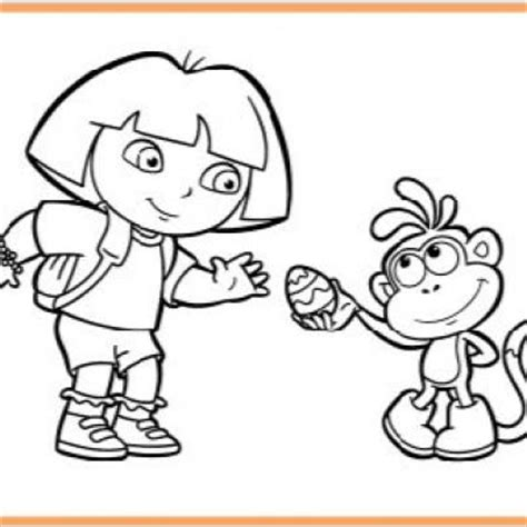 dora easter coloring page dora boots egg coloring page tip junkie