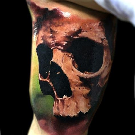 realistic skull tattoos awesome realistic 3d skull design idea made by oleg