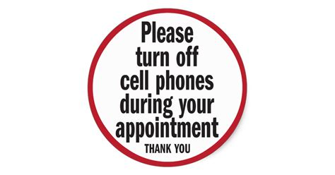 turn off your cell phone sign