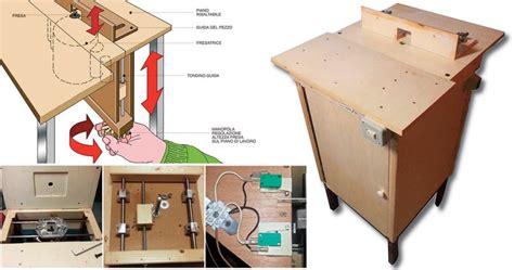 banco fresa legno banco fresa fai da te autocostruito progetto e