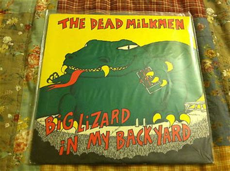 the dead milkmen big lizard in my backyard popsike com dead milkmen big lizard in my backyard lp