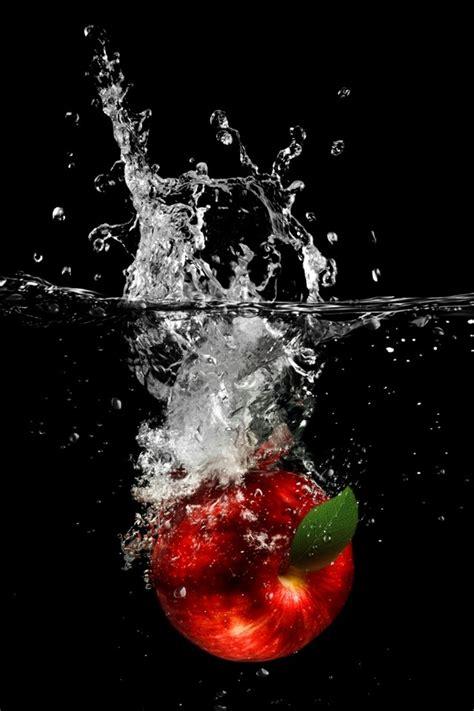 wallpaper apple water apple drop in water iphone 4 wallpaper and iphone 4s