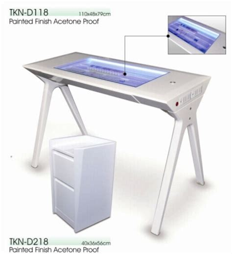 china sale manicure table with led light ktn d118