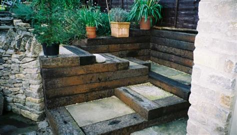 How To Build Steps With Railway Sleepers by David Watkinson S Railway Sleeper Steps
