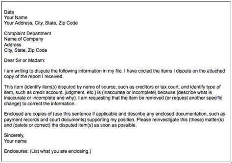 Tax Dispute Letter Template How To Successfully Dispute Inaccuracies On Your Credit Report Quizzle