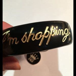 66% off Jessica kagan cushman Jewelry   F'ck off im shopping bad  black Jkc bangle from Nice