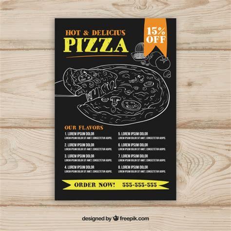 Modele De Pizza mod 232 le de menu pizza avec des dessins t 233 l 233 charger des