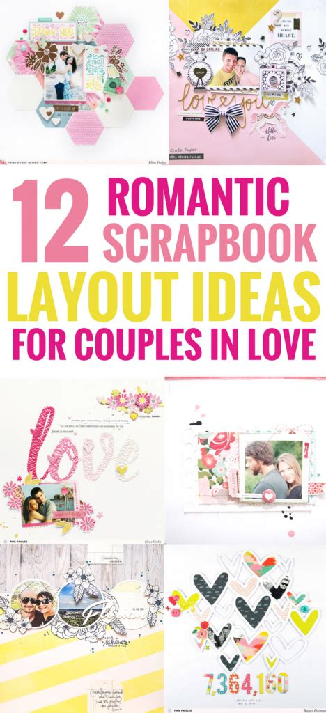 scrapbook layout ideas  couples  love