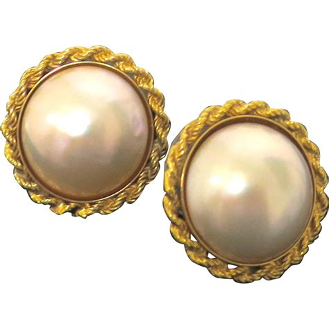 cultured pearl earrings mabe pearl design