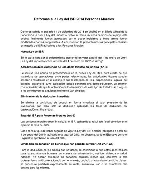 articulo 152 isr 2014 articulo 111 ley isr 2014 reformas a la ley del isr 2014
