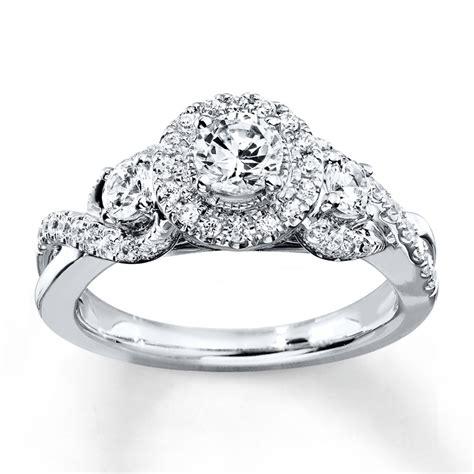 engagement ring 7 8 ct tw cut 14k