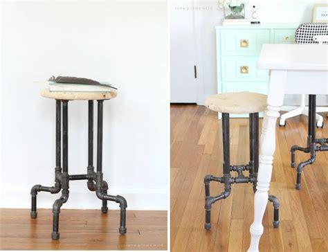 Diy Suspended Bar Stools diy bar stools 5 ways to build yours bob vila