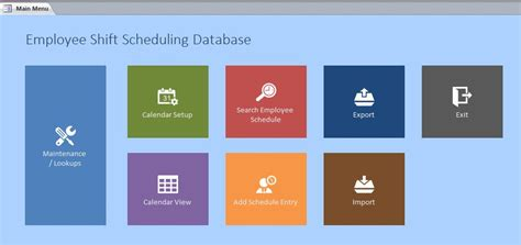 access sle database templates version microsoft access employee scheduling database template