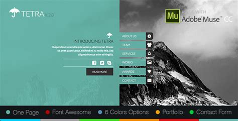 Tetra Adobe Muse Template By Zacomic Themeforest Adobe Muse Ecommerce Templates Free