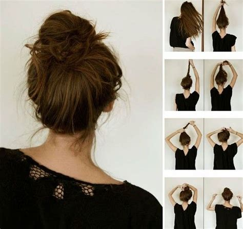 diy hairstyles messy bun how to messy bun i can t wait for my hair to be long