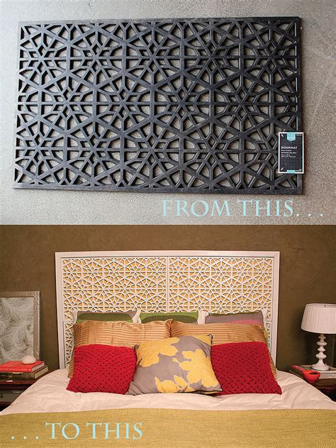 Doormat Headboard diy west elm morocco headboard from doormat this site