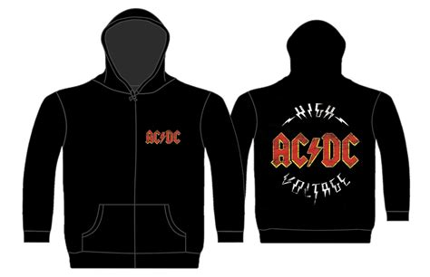 Jaket Sweater Hoodie Acdc Ac Dc 02 Import Quality Ym01 ac dc high voltage zip heavy metal